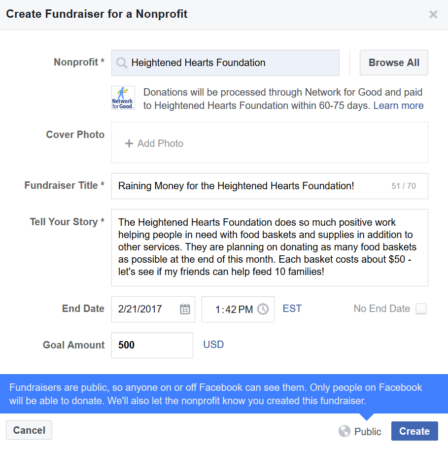 FB donation process 4